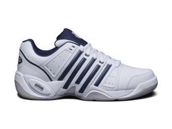 K-Swiss Accomplish II LTR Carpet (White / Navy / Silver)