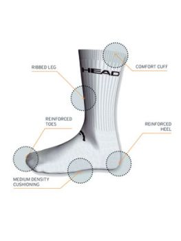 HEAD Short Crew  Sportsocken grau